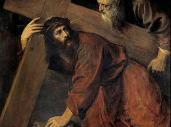 Quadri sulla Pasqua, Cristo ed il Cireneo di Tiziano Vecellio