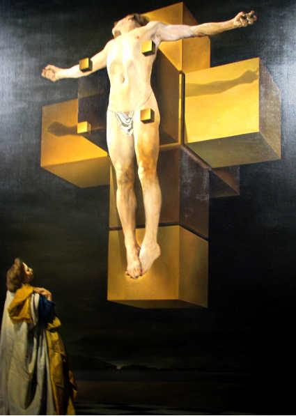 Crocifissione Crucifixion (Corpus Hypercubus) di Salvador Dalì  (1954)