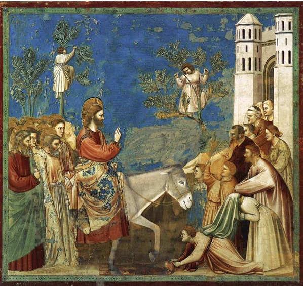 Quadri sulla Pasqua, L'Ingresso a Gerusalemme di Giotto