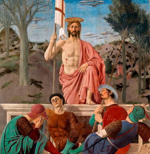 Quadri sulla Pasqua, La Resurrezione di Cristo di Piero della Francesca