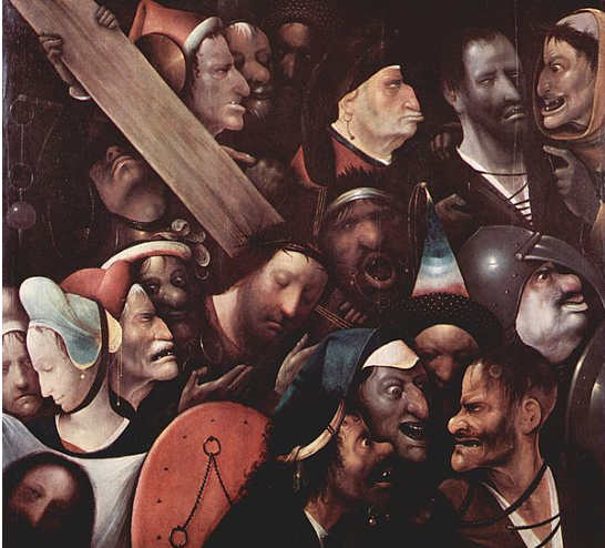 Hieronymus Bosch La Salita al Calvario (o Cristo portacroce)