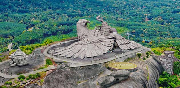 Chadayamangalam e la statua dell'aquila più grande del mondo