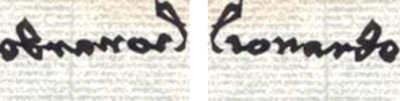 Grafia, Analisi grafologica di Leonardo Da Vinci