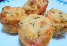 Mini Muffin salati con zucchine senza lievito