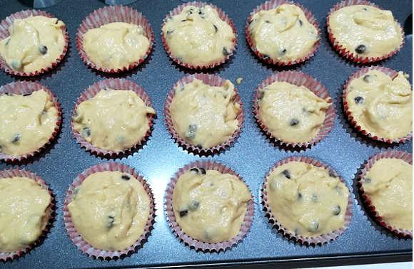Preparazione Muffin soffici allo yogurt