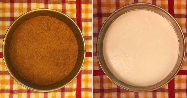 Preparazione Cheesecake al limone senza cottura