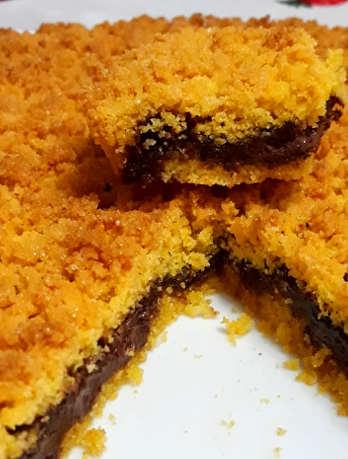 Ingredienti Sbriciolata alla Nutella con farina di mais e di mandorle