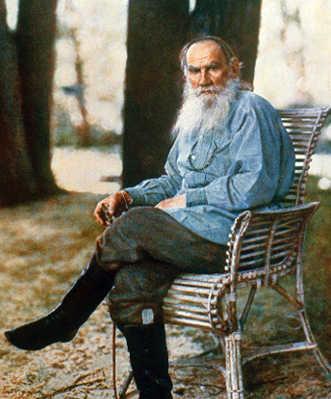 Foto dello scrittore Leon Tolstoi, realizzata nel 1908 di Sergei Prokudin