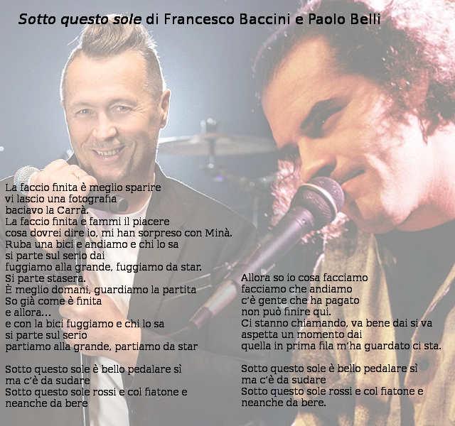 Testo di Sotto questo sole di Francesco Baccini e Paolo Belli