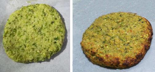 Preparazione Burger di zucchine e patatine al forno arrosto come fritte