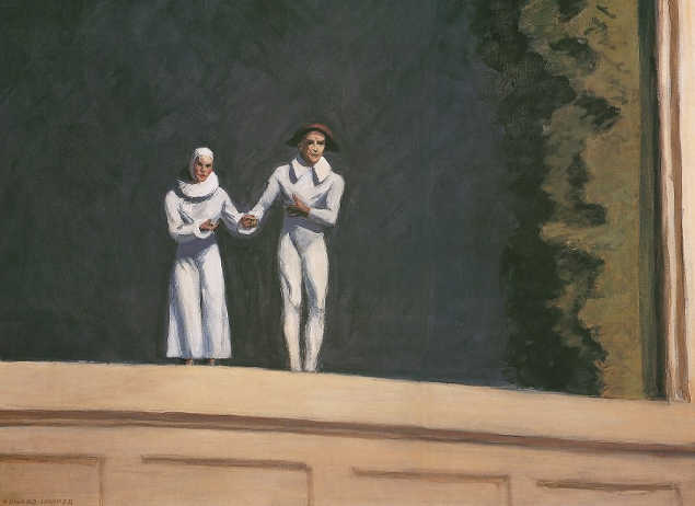 Two comedians di Edward Hopper