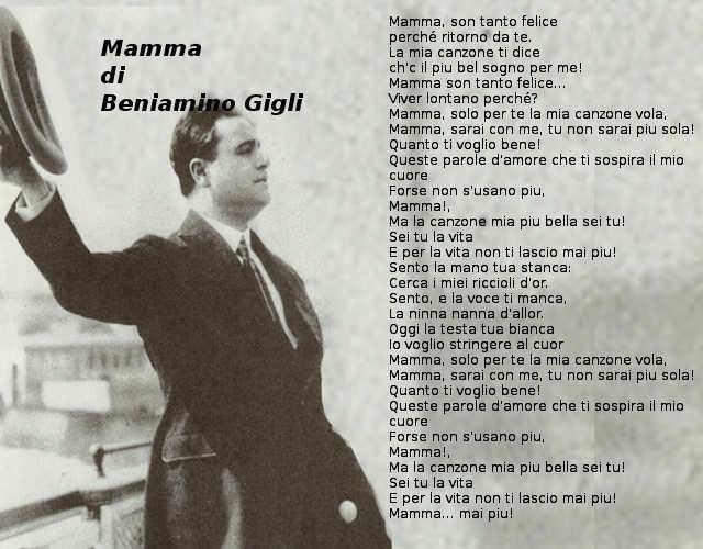 Testo di Mamma di Beniamino Gigli