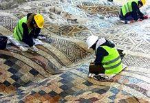 Un mosaico romano di 1050 metri quadrati esposto sotto un lussuoso hotel ad Antiochia