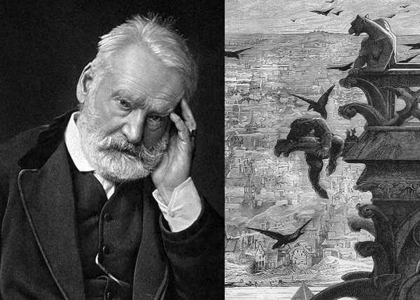 Lo scrittore Victor Hugo e Notre-Dame de Paris