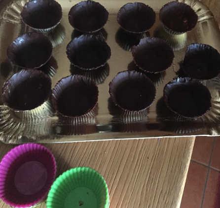 Pirottini con il cioccolato fondente