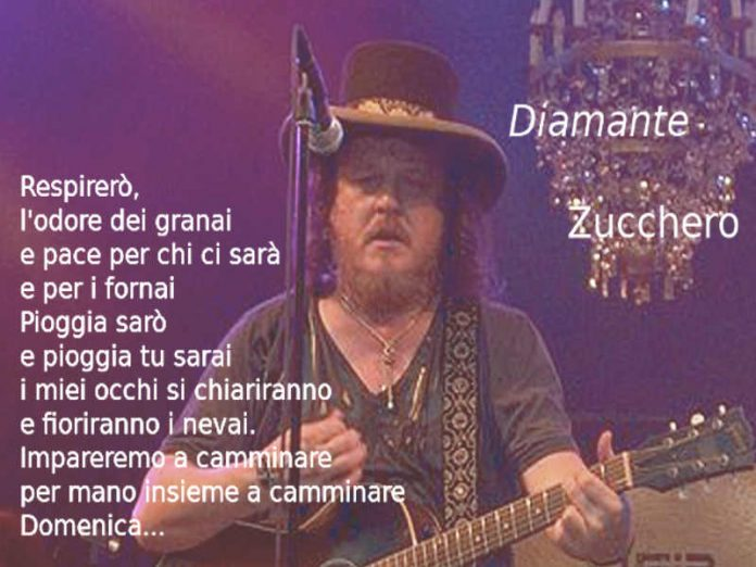 Testo di Diamante di Zucchero e video