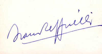 La firma nella grafia di Franco Zeffirelli