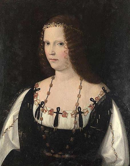 La duchessa Lucrezia Borgia (Subiaco, 18 aprile 1480 – Ferrara, 24 giugno 1519)