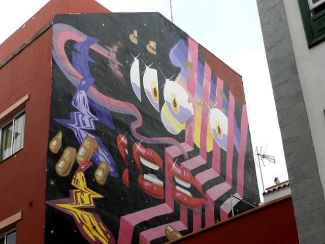 La Macaronesia di Iker Muro al Puerto Street Art, Puerto de la Cruz di Tenerife