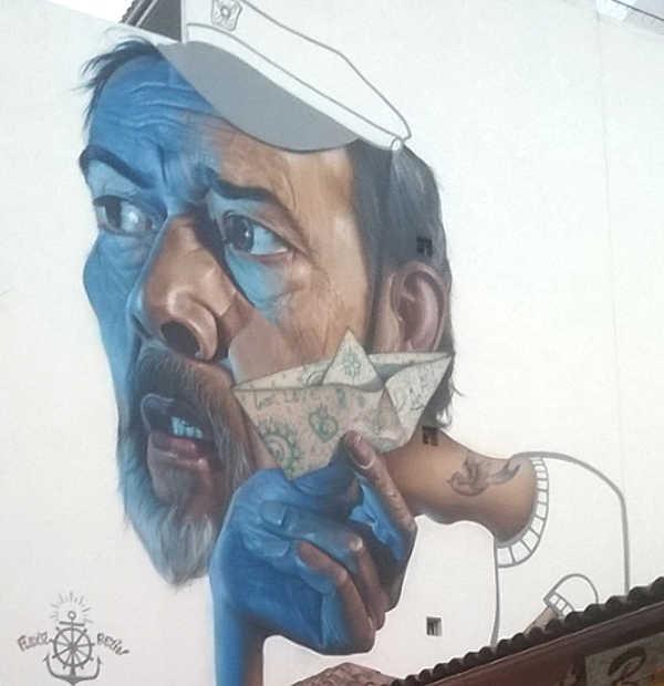 Puerto Street Art  La Eterna Juventud by Belín