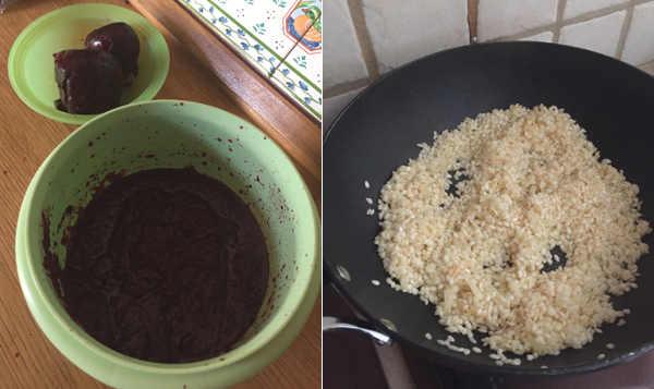 Ingredienti Risotto alla barbabietola rossa con scamorza affumicata