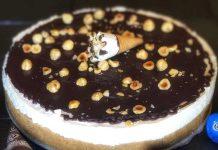 Torta cornetto gelato panna nocciola e cioccolato