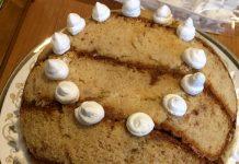 Zuccotto senza glutine con pan di Spagna crema pasticcera e cioccolato