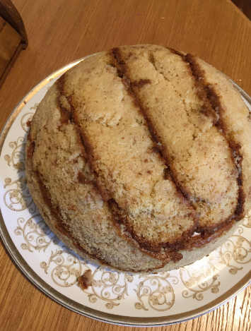 Preparazione Zuccotto senza glutine con pan di Spagna crema pasticcera e cioccolato 2
