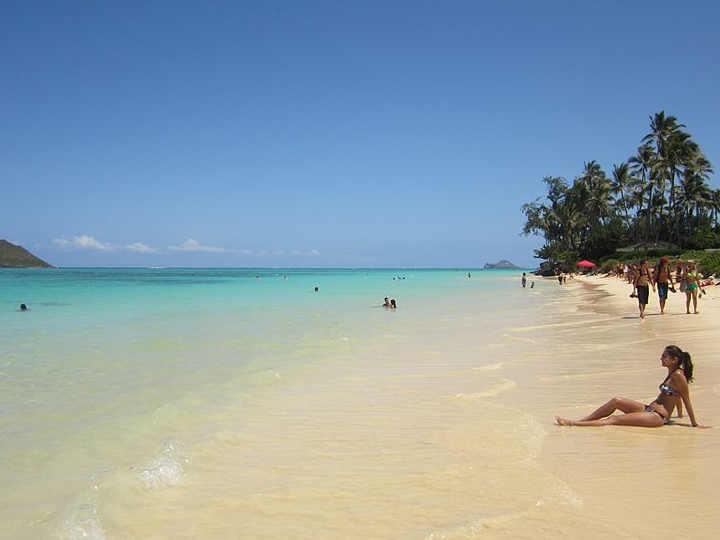 La spiaggia di Lanikai o Lanikai Beach Hawaii