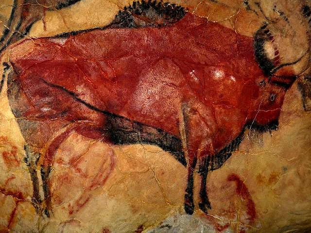 Il rosso nelle pitture rupestri ad Altamira