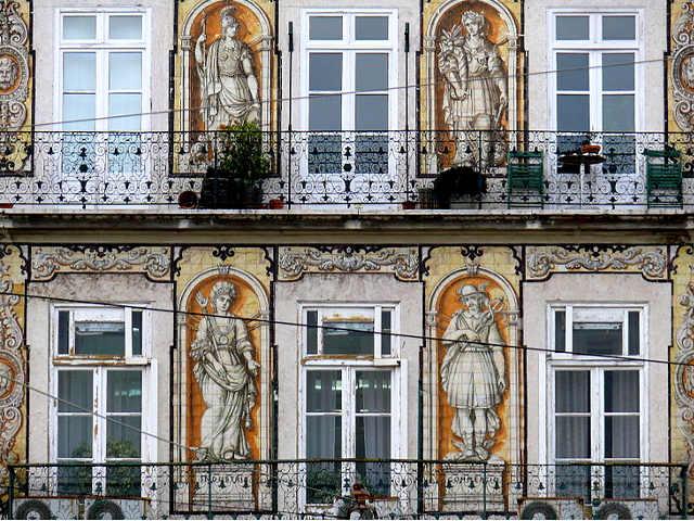 facciata a Lisbona con Azulejo