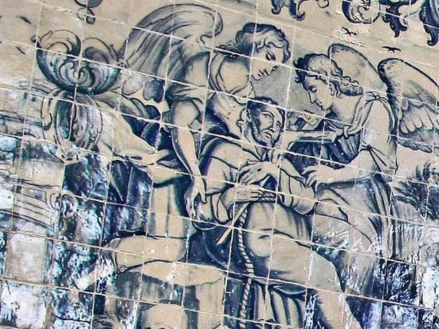 Particolare di azulejo al museo di Lisbona