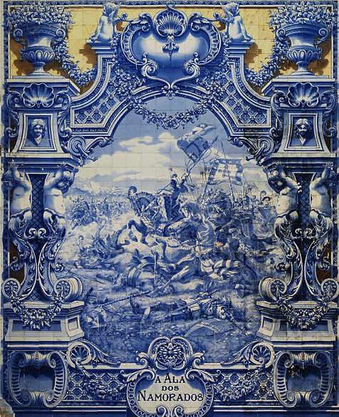 Azulejos al Parco Eduardo VII Lisbona