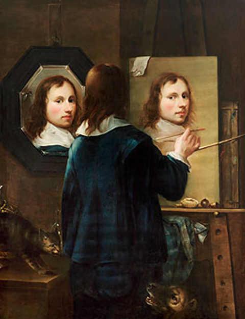 Johannes Gumpp Autoritratto triplo rettangolare