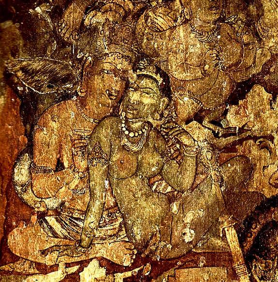 Dipinto nelle Grotte di Ajanta
