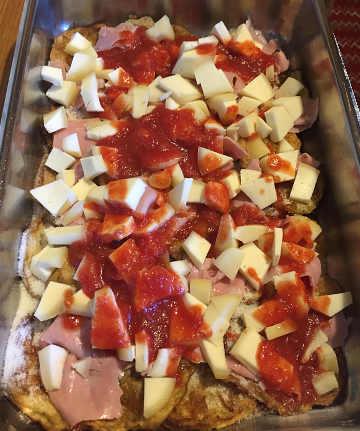 Preparazione Parmigiana di melanzane senza glutine alla pugliese 1