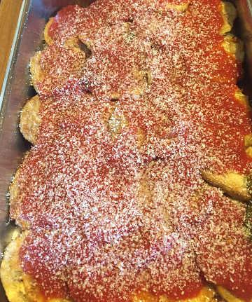 Preparazione Parmigiana di melanzane senza glutine alla pugliese 2