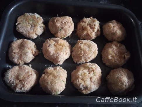 Infornare Polpette con farina di ceci e zucchine