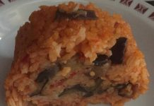 Rotolo di riso farcito con melanzane senza glutine