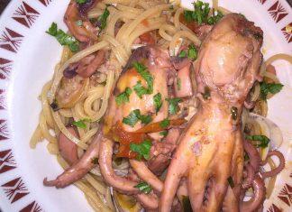 Spaghetti senza glutine con moscardini vongole e cozze