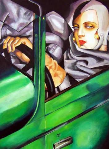 Autoritratto sulla Bugatti verde, Tamara de Lempicka, p