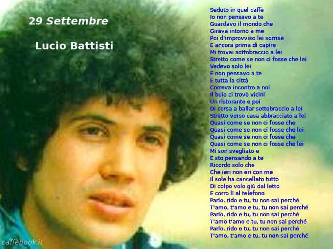 Testo di 29 Settembre di Lucio Battisti