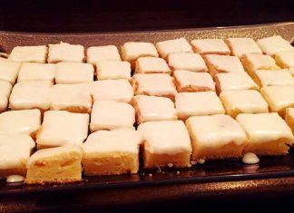 Brownies al limone e limoncello con glassa senza glutine