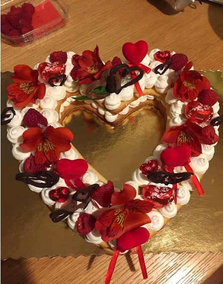 Ricetta della Cream Tart a forma di cuore senza glutine e senza lattosio