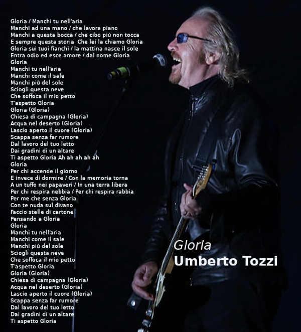 Testo di Gloria di Umberto Tozzi