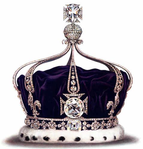 Il diamante Cullinan II (Piccola Stella d'Africa) nella corona