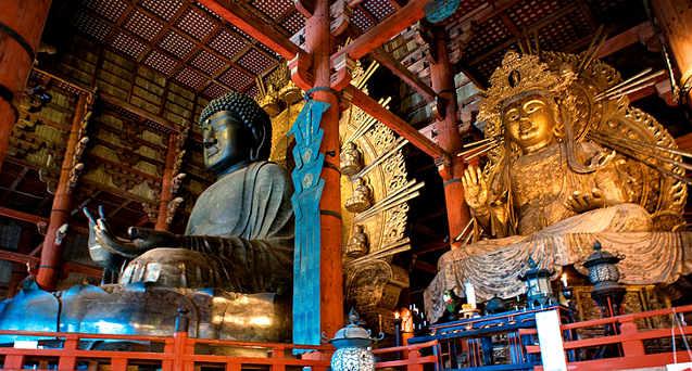Statua in bronzo del Buddha Vairocana