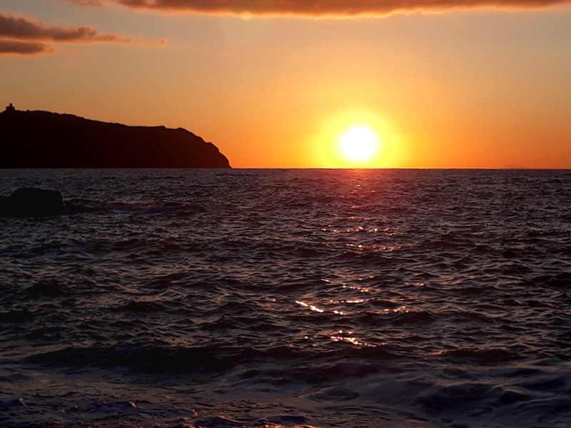 Il tramonto a Capo Tindari