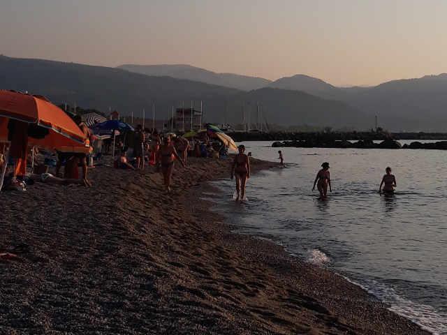 Vista della spiaggia di Tonnarella