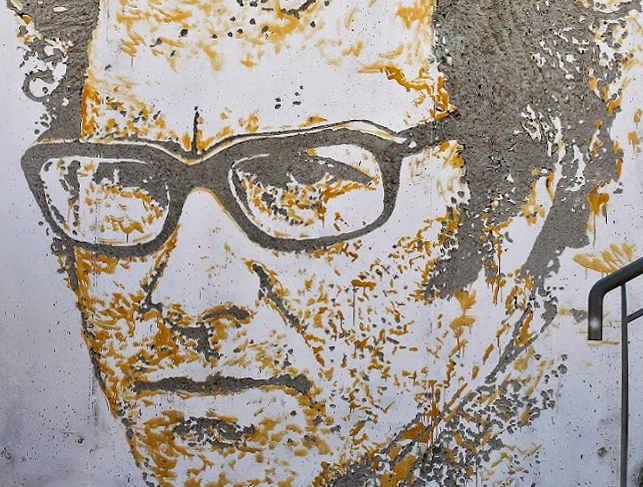 Particolare murales di Alexandre Farto